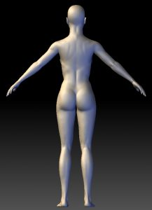 3D Woman from Behind