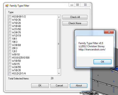 Revit Type Filter Plugin | trancerobot com